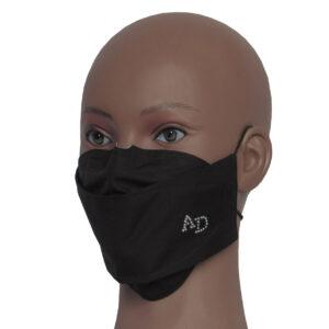 Mascherina non ospedaliera fashion personalizzata con le tue iniziali in strass