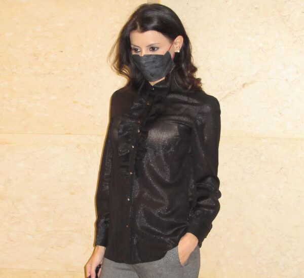 Camicia in lana lurex