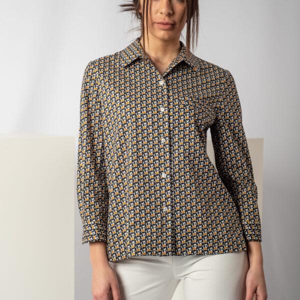 Camicia in cotone paper wall