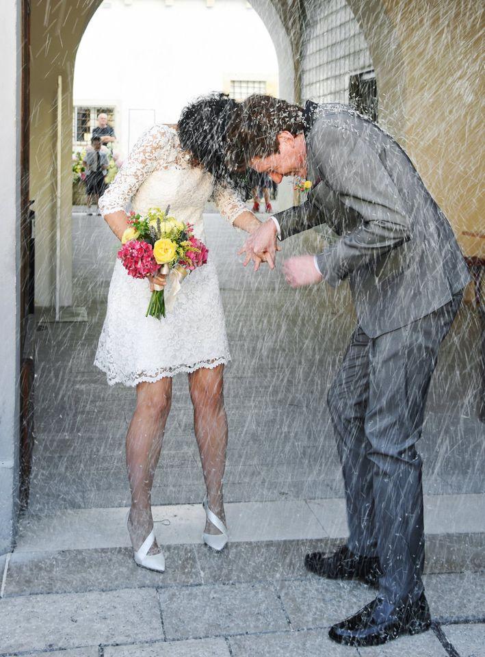 Abito da sposa corto